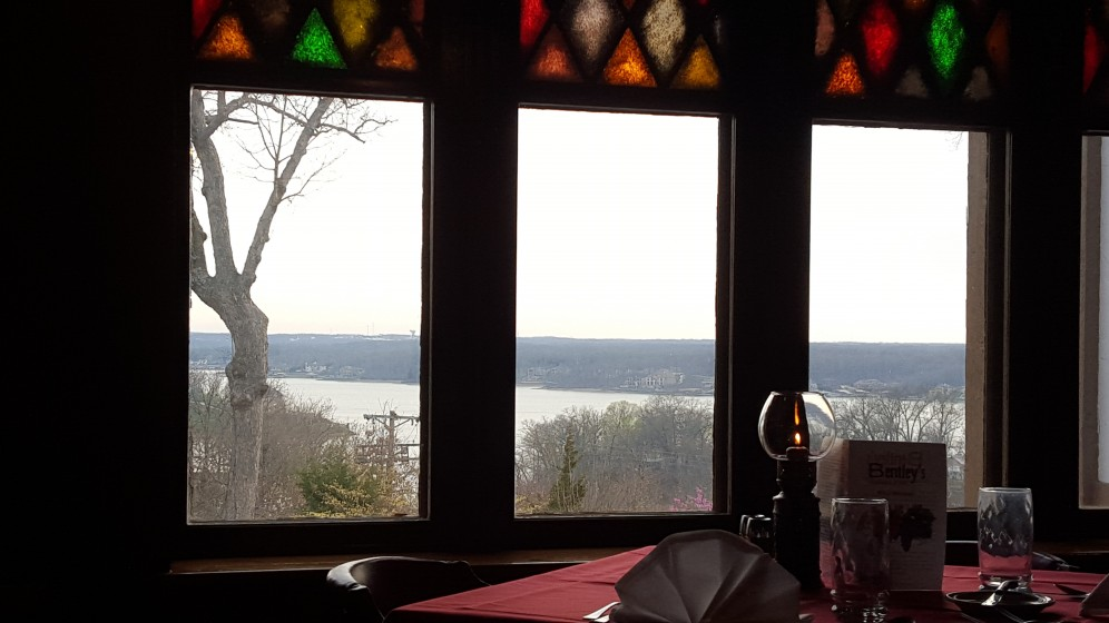 Indoor view of the Lake. Lots of boats to watch in the summer.