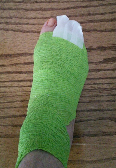 Spring green tape from the doctor to replace hospital beige