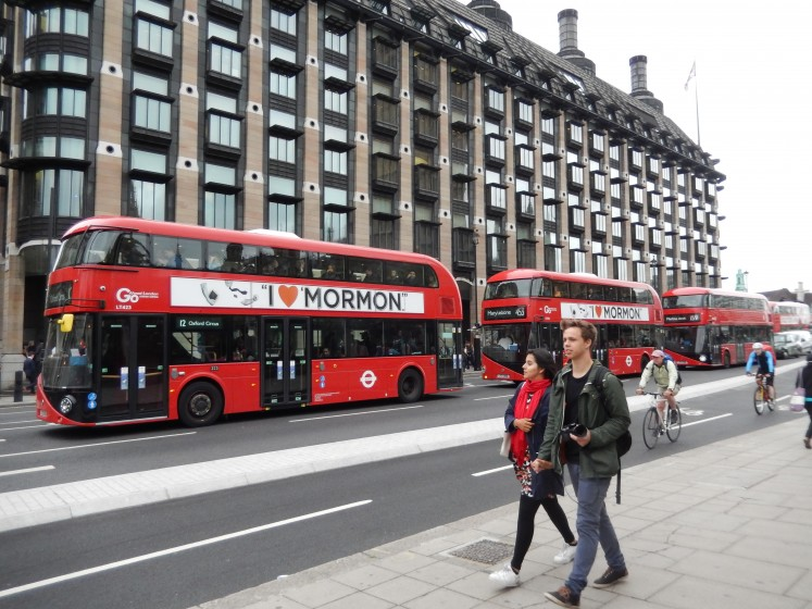 The red, double-decker buses really are everywhere.