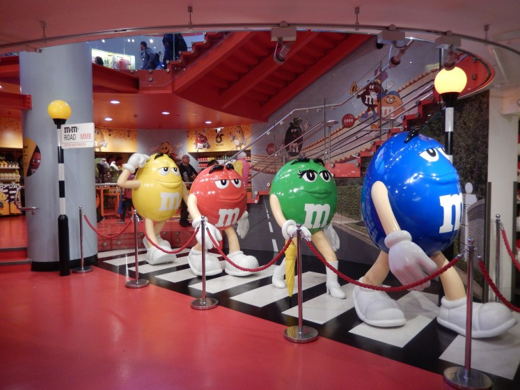 On our way to Piccadilly Circus, we saw the M&Ms World store. Cute!