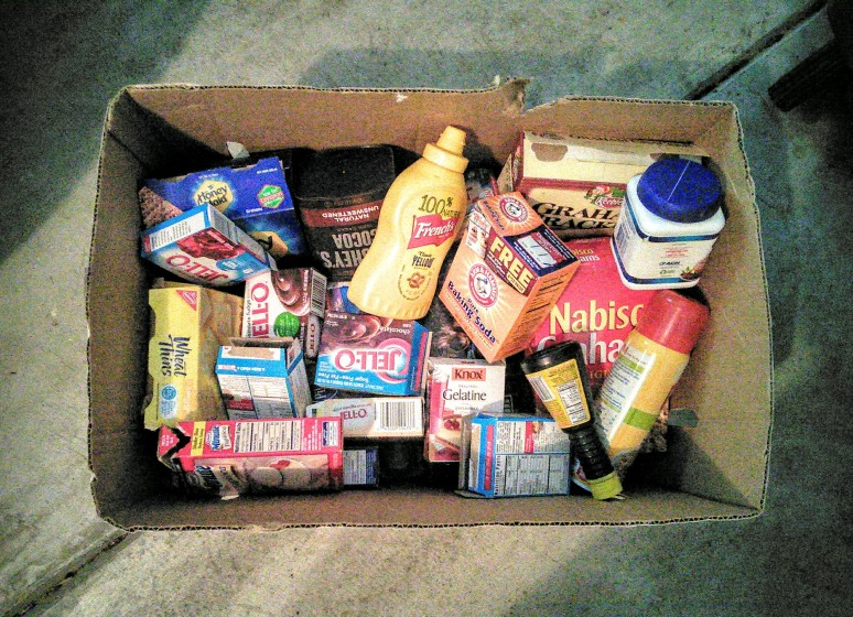A boxful of expired rejects