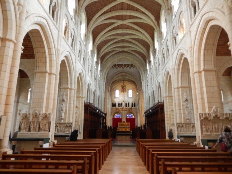 The santcuary of Buckfast Abbey.