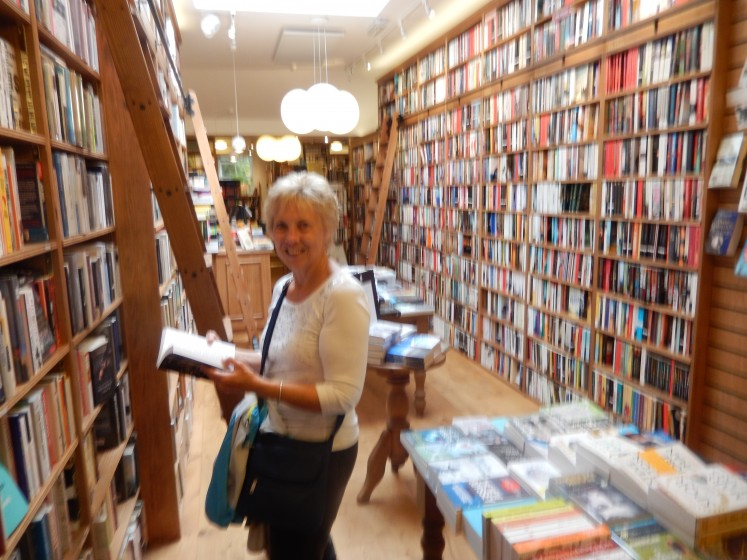 Me in the awesome bookstore.