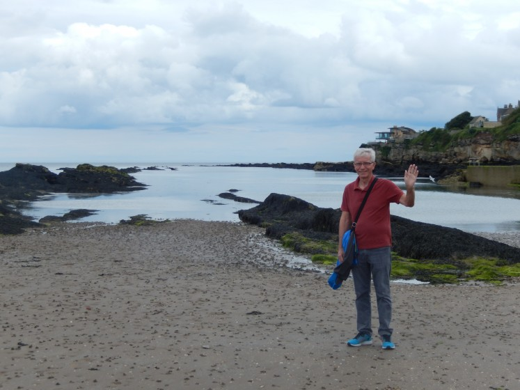 Ted at the North Sea shore.