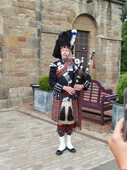 This is the Piper who piped is in to dinner. I like the sound of the bagpipes.