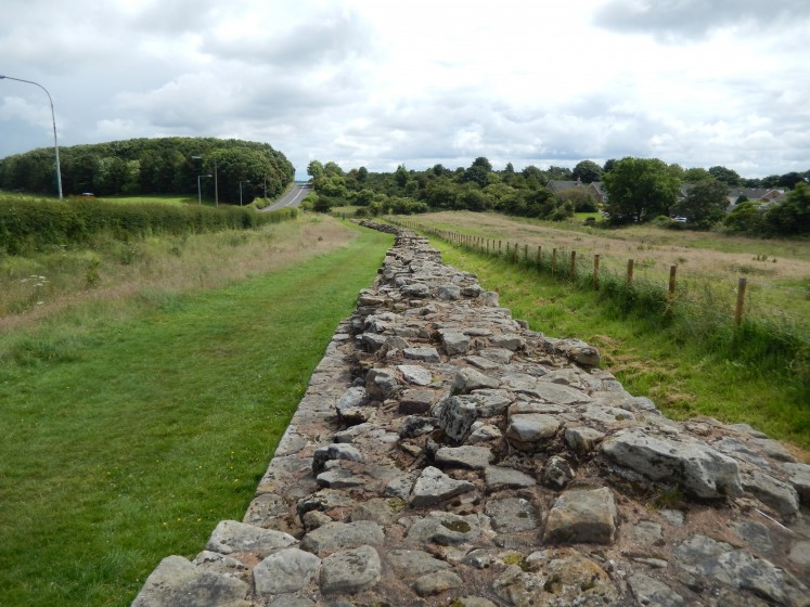 Some of the remains of Hadrian's Wall.