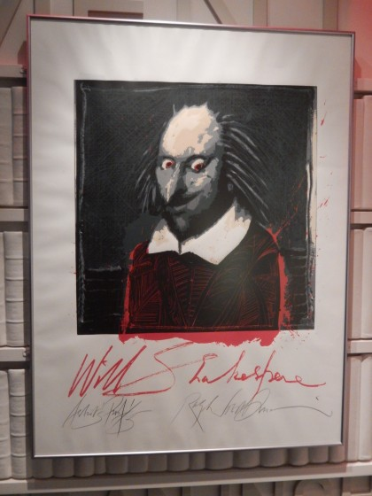 Really scary Shakespeare! I'm not sure who buys this poster.