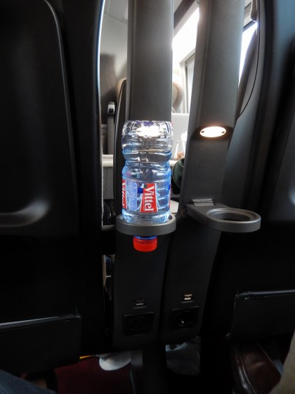 European-style drink holder. Only bottle fit the opening.