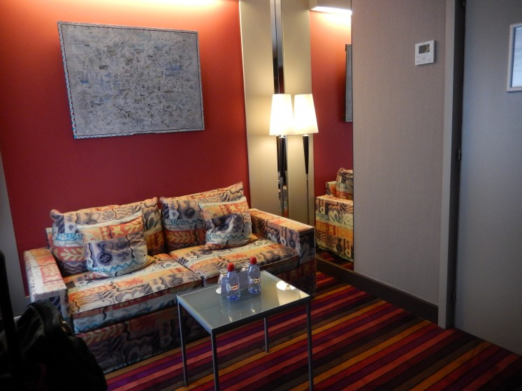 Seating area in our hotel room.
