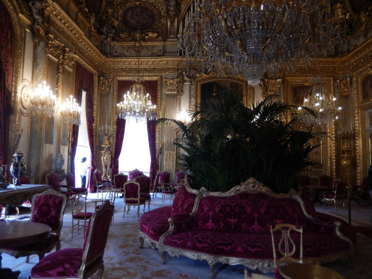 This is one of the rooms the Louvre displays as part of an exhibit replicating Napoleon's apartment at Versailles.
