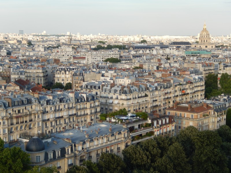One view of Paris from the Eiffel Tower.