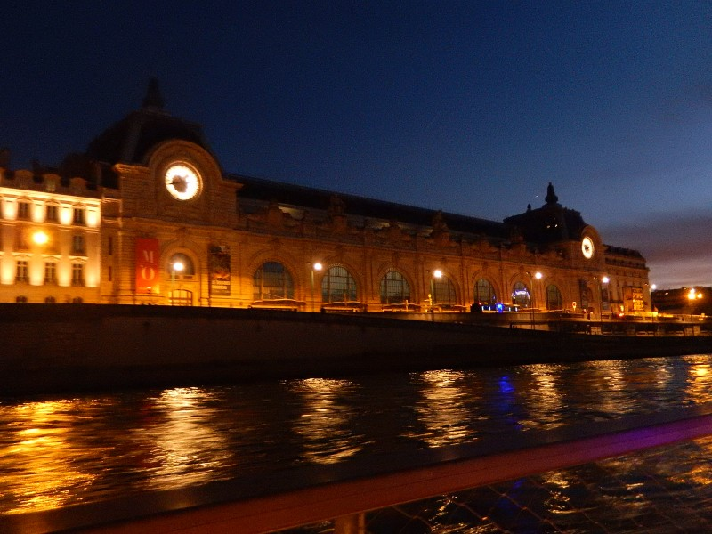 View of the Museum d' Orsay from our Seine River cruise.