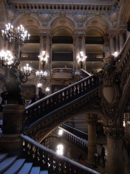 The grand staircase in the opera house.