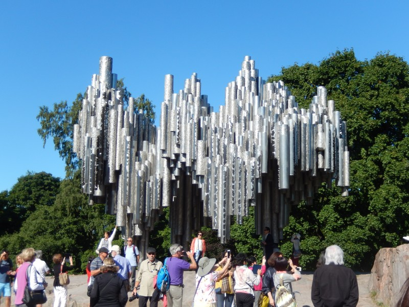 The other part of the Sibelius monument.  Very Scandinavian.