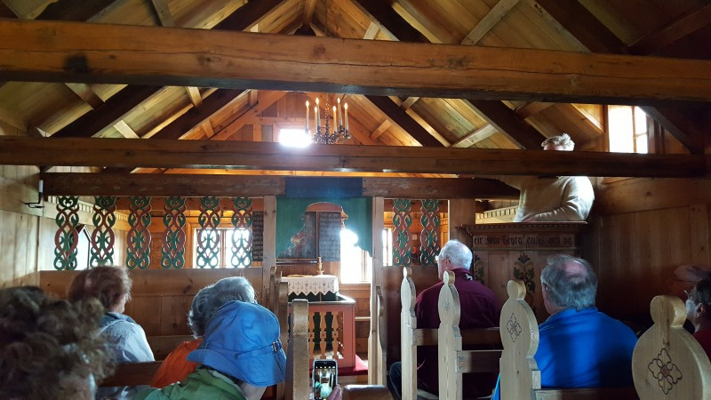 The farm had a church where the family and its neighbors could visit. Men sat on the right, women on the left, and criminals (if any) in front facing the congregation and perhaps deciding to change their lifestyles.