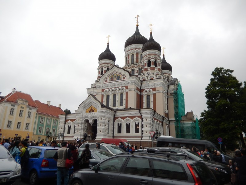 Of course Tallinn has the requisite elaborate cathedral in its city center. Of course it was beautiful inside.