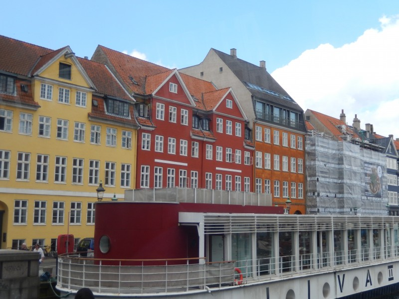 An up-close view of typical houses in Copenhagen.