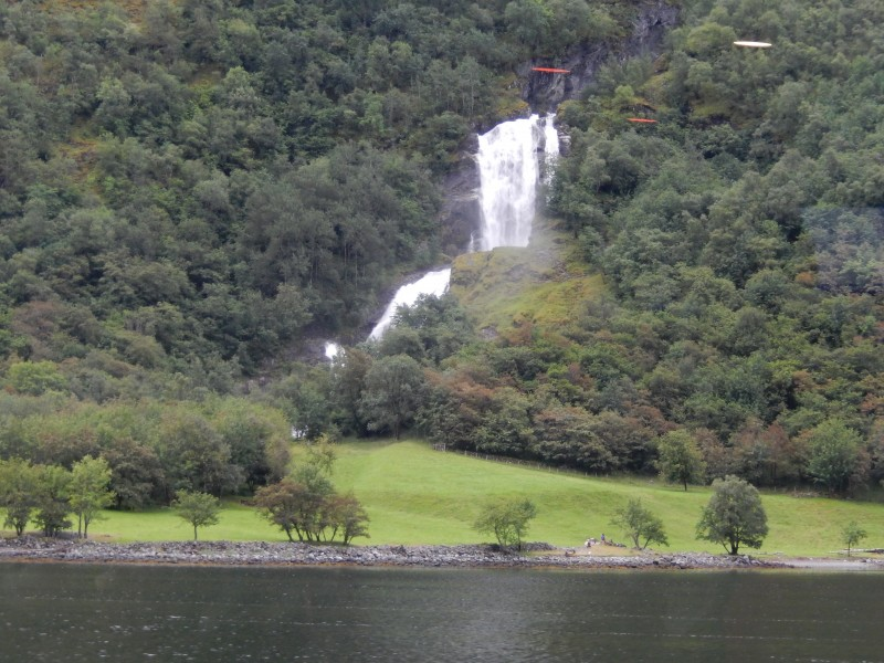 Waterfalls are everywhere along the fjord. This is one of the larger ones.