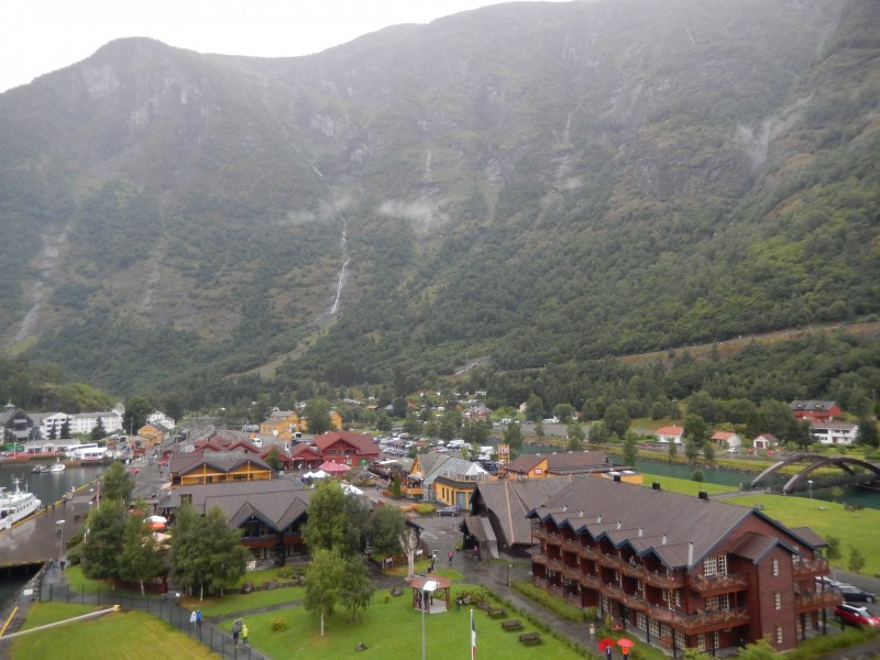 This is the entire town of Flåm.