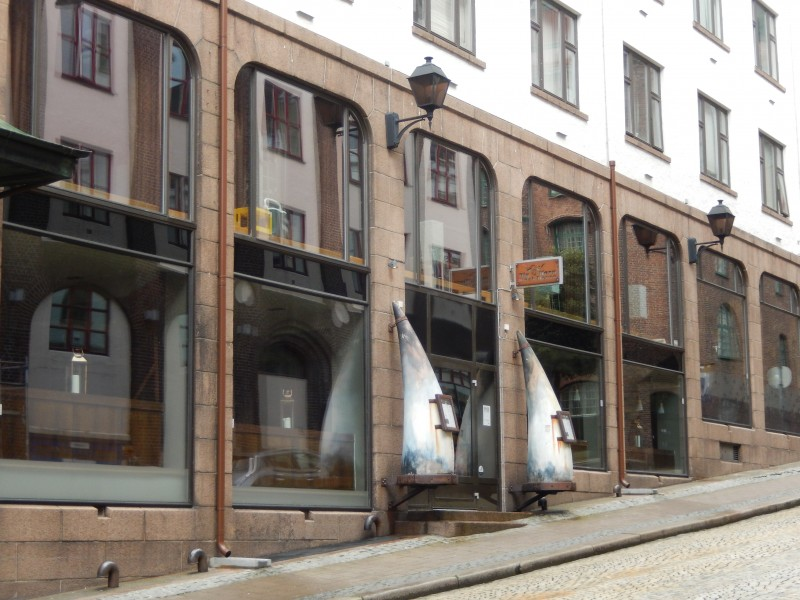 A Viking restaurant--complete with giant Viking horns at the door.