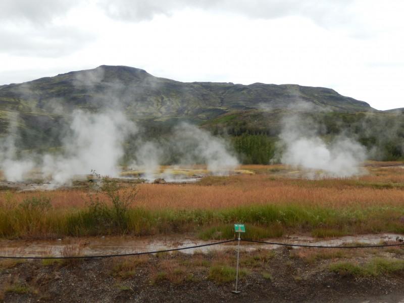 A geyser field we walked through.