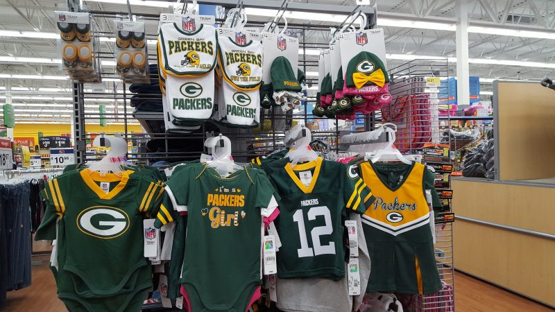 Baby Packer regalia to get the little ones accustomed to wearing the green and gold.