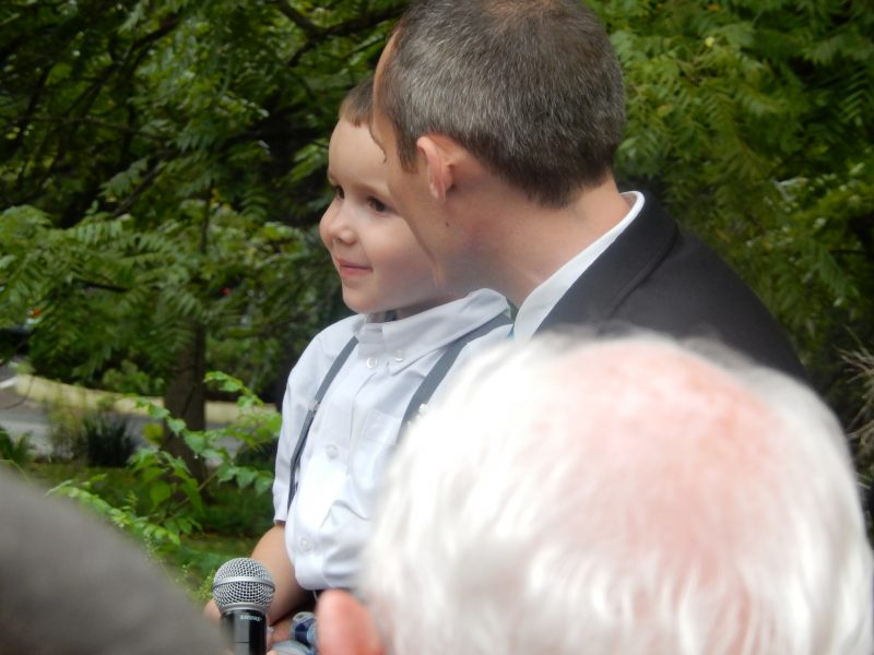 During the ceremony, Brandon made promises to Damon (his soon-to-be-adopted son) to always care for him.