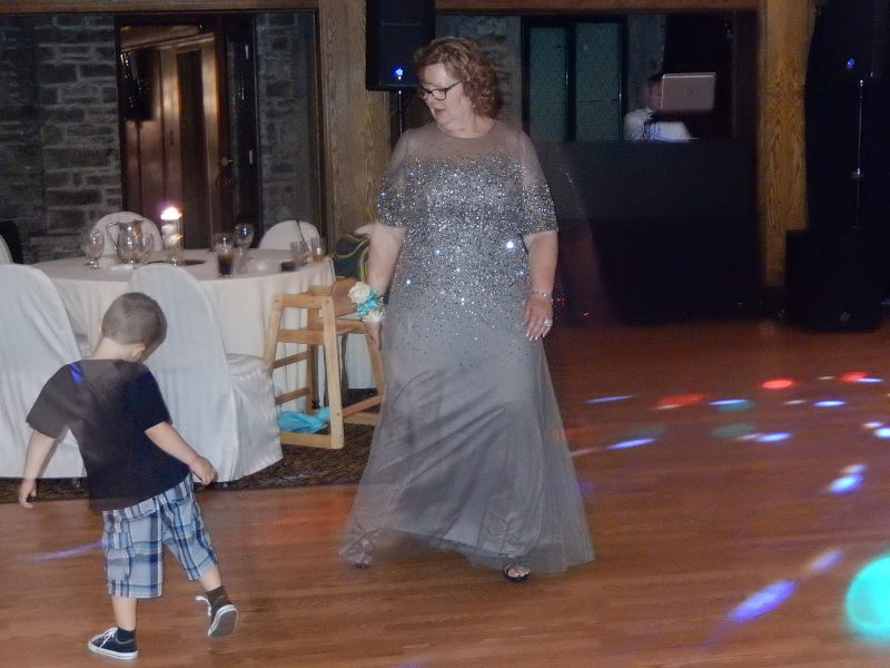 Damon dancing with his grandma.