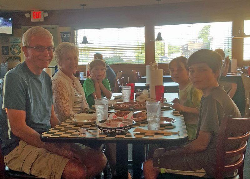 Pizza Hut--always a hit with kids.