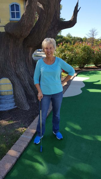 Me--the only one who shot a hole-in-one. It wasn't enough to get close to Ted's score.