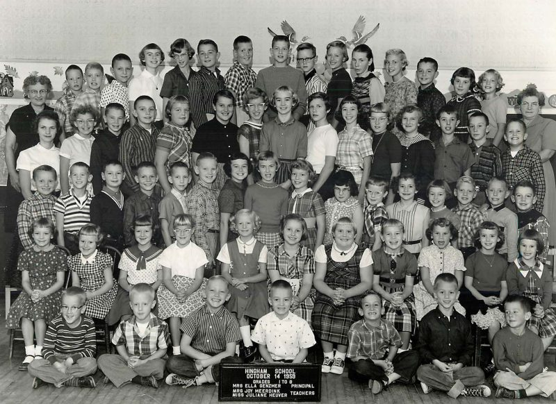 Important people: Mrs. Genzmer (back row, left); Denny (back row, second boy from left); me (back row, 5th from right); Steve (3rd row, 3rd from right); Tom (front row, 3rd from left).