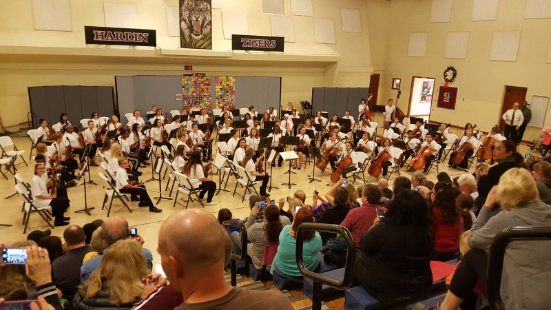 The middle school orchestra