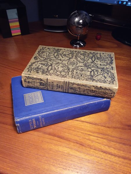 The blue book was my mother's; the top one is mine.