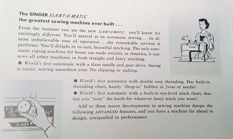 "Yes, it is billed as ""the greatest sewing machine ever built."" I can't disagree."
