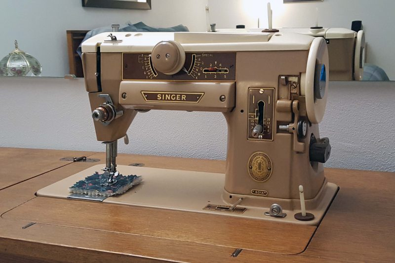 My trusty 52-year-old sewing machine. It never needed a repair.